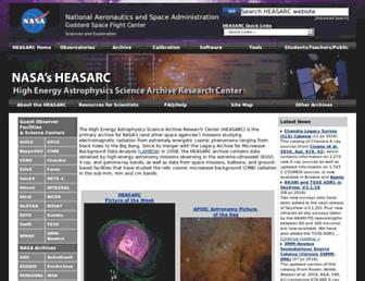 heasarc.gsfc.nasa.gov screenshot