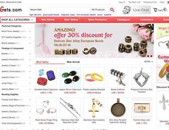 Main page screenshot of gets.cn
