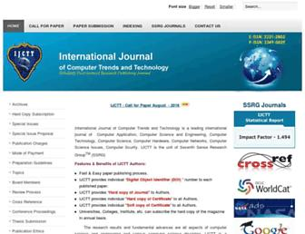 ijcttjournal.org screenshot