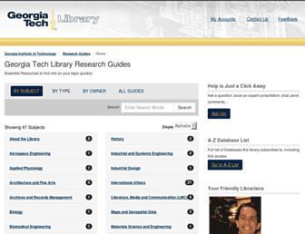 libguides.gatech.edu screenshot