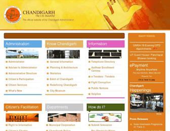 Thumbshot of Chandigarh.gov.in