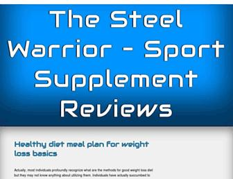 Main page screenshot of thesteelwarrior.org
