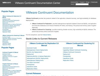 docs.continuent.com screenshot