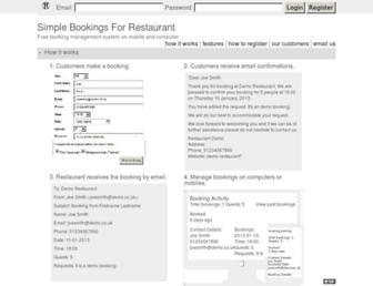 simplebookings.co.uk screenshot