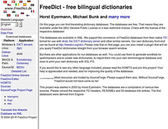 freedict.org screenshot