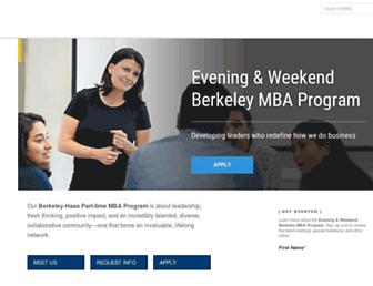 ewmba.haas.berkeley.edu screenshot
