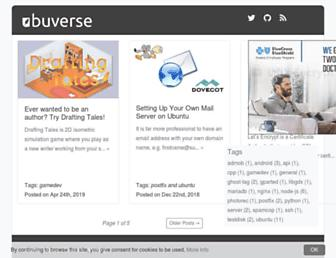 ubuverse.com screenshot