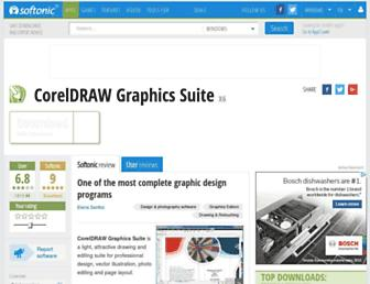 coreldraw-graphics-suite.en.softonic.com screenshot