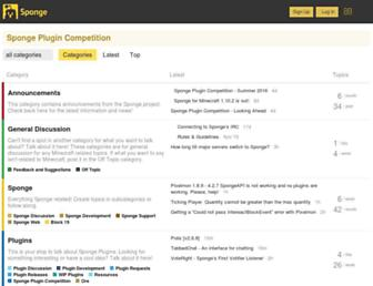 forums.spongepowered.org screenshot
