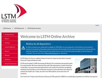 archive.lstmliverpool.ac.uk screenshot