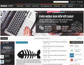 Main page screenshot of saga.vn