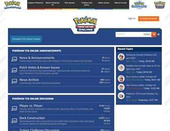 forums.pokemontcg.com screenshot
