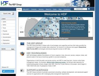 hdfgroup.org screenshot