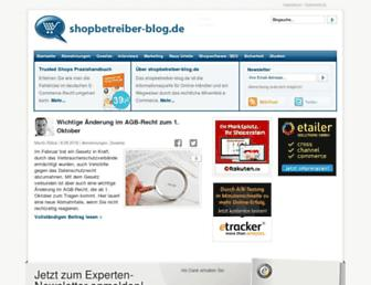 Main page screenshot of shopbetreiber-blog.de