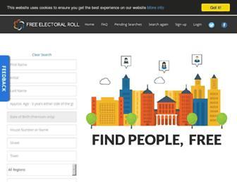 Thumbshot of Freeelectoralroll.co.uk