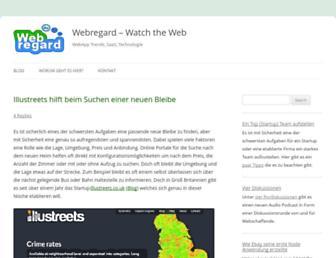 Main page screenshot of webregard.de