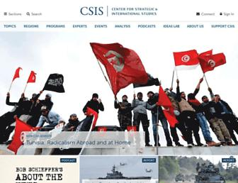 Main page screenshot of csis.org