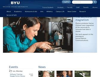 Main page screenshot of byu.edu
