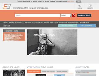 ceeol.com screenshot