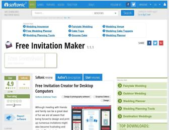 invitation-maker.en.softonic.com screenshot