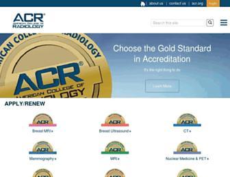 acraccreditation.org screenshot