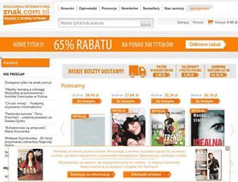 Main page screenshot of znak.com.pl