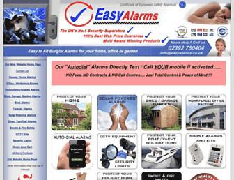 easyalarms.co.uk screenshot