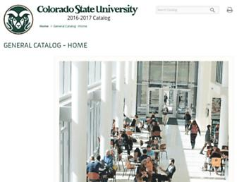 catalog.colostate.edu screenshot