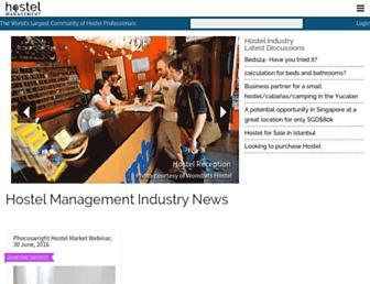hostelmanagement.com screenshot