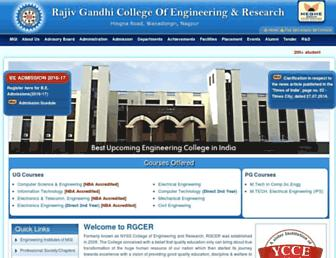 rgcer.edu.in screenshot