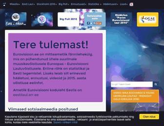 Main page screenshot of eurovisioon.ee