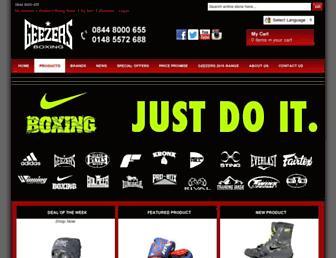 geezersboxing.co.uk screenshot