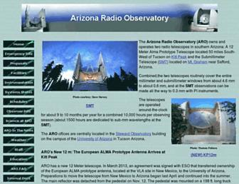 aro.as.arizona.edu screenshot