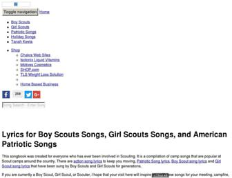 scoutsongs.com screenshot