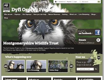 dyfiospreyproject.com screenshot