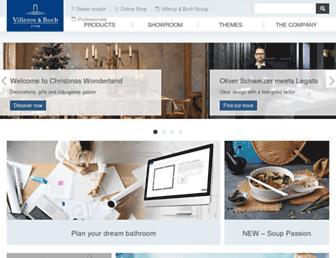 villeroy-boch.co.uk screenshot