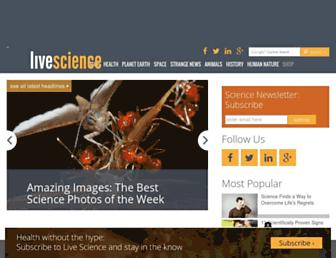 livescience.com screenshot