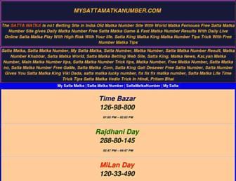 mysattamatkanumber.com screenshot