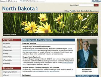 cnd.nd.gov screenshot