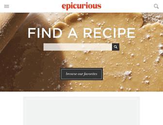 epicurious.com screenshot