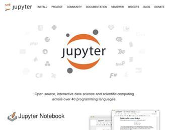 jupyter.org screenshot