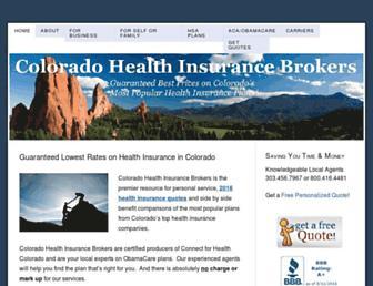 coloradohealthinsurancebrokers.com screenshot
