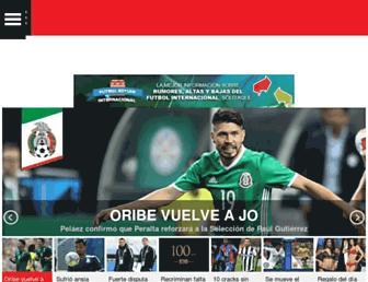 Main page screenshot of record.com.mx