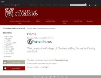 blogs.cofc.edu screenshot