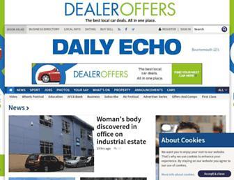 Main page screenshot of bournemouthecho.co.uk