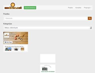 Main page screenshot of mediena.net