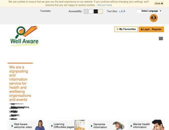 wellaware.org.uk screenshot
