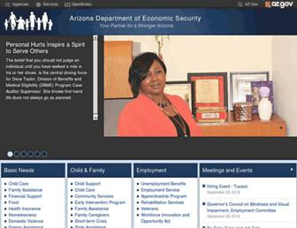 des.az.gov screenshot