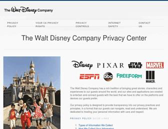 Thumbshot of Disneyprivacycenter.com