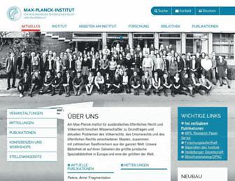 Main page screenshot of mpil.de